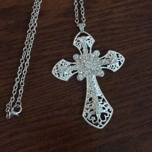 Jewelry - 3.5 inch Cross ✝️ Necklace on a 22 inch chain